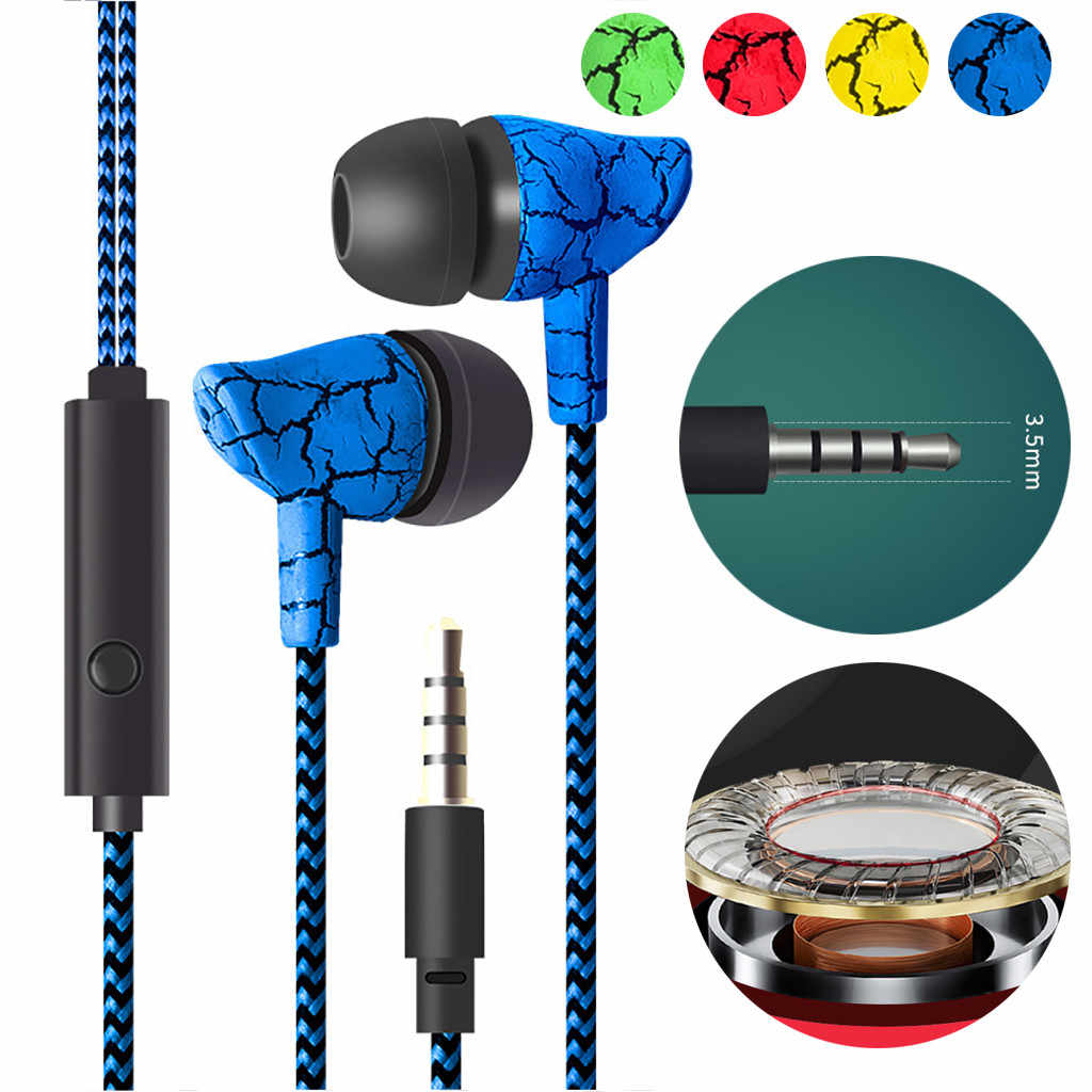 Przewodowe słuchawki douszne izolowanie szumów 3.5mm Crack słuchawki z mikrofonem bezobsługowy zestaw słuchawkowy dla MP3 MP4 fone de ouvido ecouteurs #0