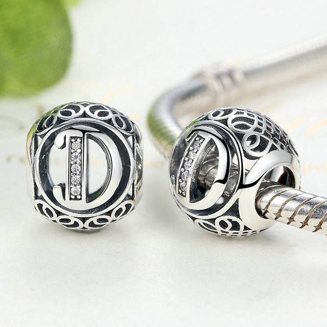pandora letter charms authentic 925 sterling silver vintage a to t letter charms 1527