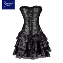 Shaper diva Sexy Push Up Steampunk Corsets and Bustiers Top Evening Women Lace Gothic Corset Dress Halloween Costume