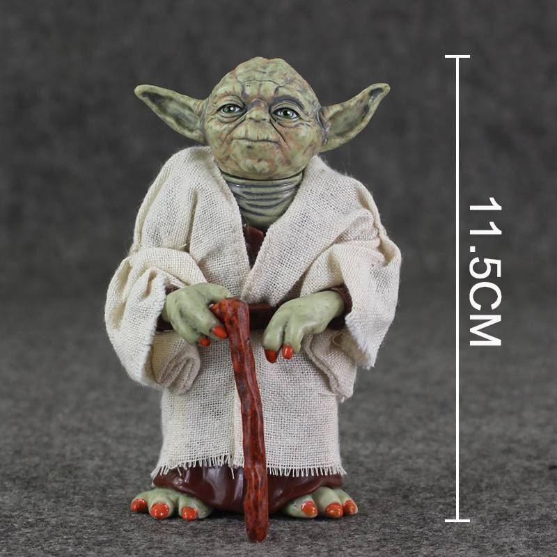 12cm Star Wars Jedi Knight Master Yoda Action Figure PVC Collection Model Dolls Toys For Christmas Gift star wars clone wars jedi master plo koon 3 75 inch loose figure