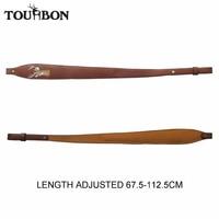 Tourbon Vintage Regulowany Skórzany Pasek Brązowy Pas Polowanie Strzelanki Airsoft Karabin Sling Shotgun Gun Akcesoria