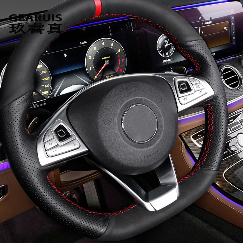 Car styling Car steering wheel button Frames Covers decorative Stickers auto Interior accessories For Mercedes Benz E Class W213|Car Stickers|Automobiles & Motorcycles - title=