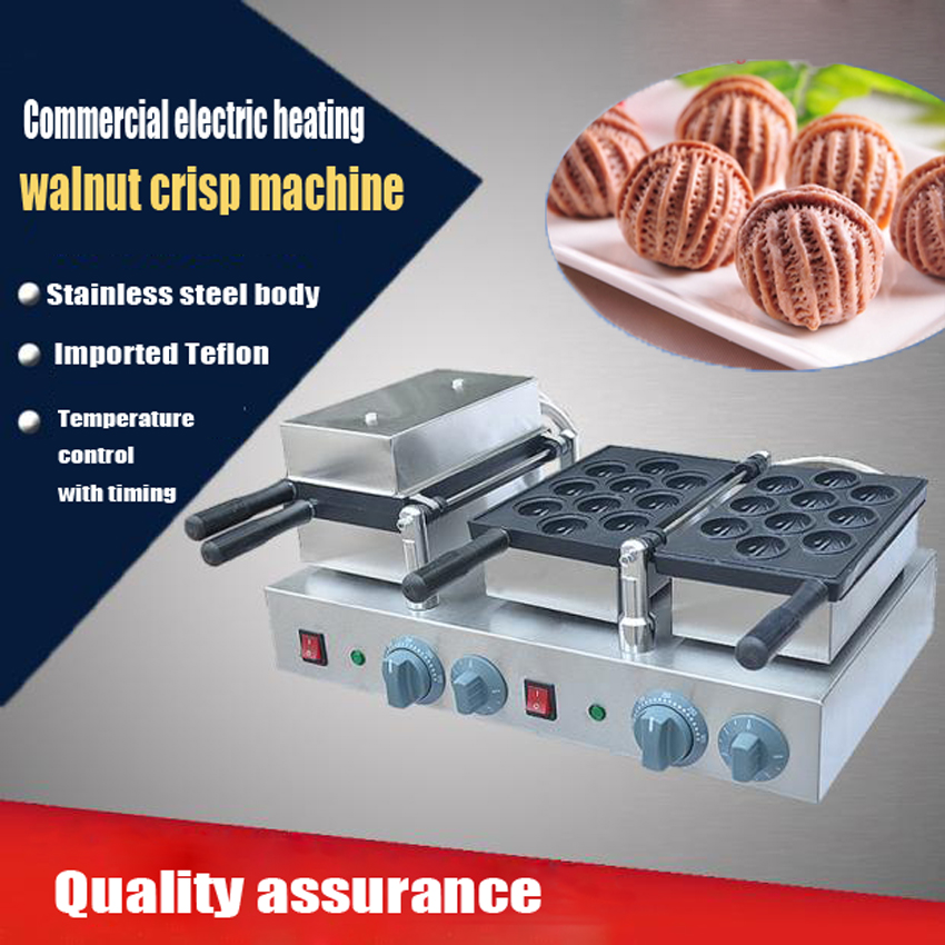1PC Hot sale 220V Electric commercial walnut sweet cake machine ;walnut crisp maker; waffle maker
