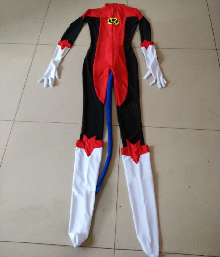 bcbfe0fd8f83 Free Shipping X Men Nightcrawler Kurt Wagner Superhero Male Costume Red  Lycra Spandex Catsuit Halloween Mens Cosplay Costume-in Anime Costumes from  Novelty ...