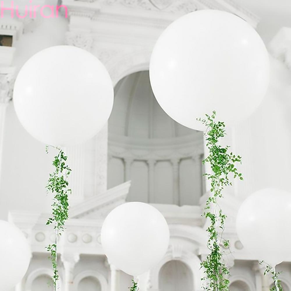 Большой воздушный шар 5-36 дюймов, белый Гелиевый шар, Свадебный декор, шары из латекса, украшения для дня рождения, товары для курительной веч...