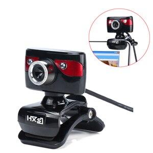 Image 2 - HXSJ USB Della Macchina Fotografica WebCam Web Camera con Microfono per il Computer di Visione Notturna di Sostegno per il Computer Portatile Desktop Skype