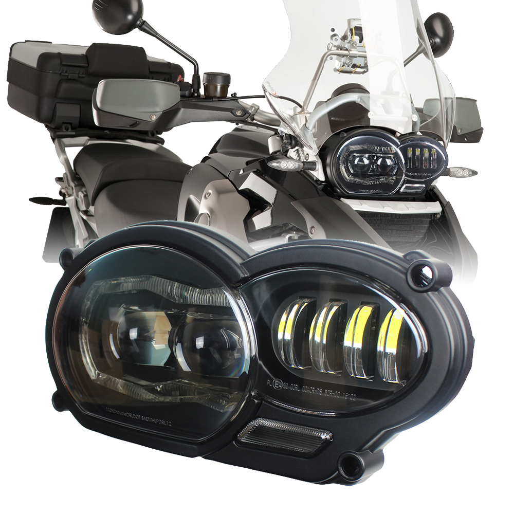 2019 New LED Headlight For BMW R1200GS R 1200 GS Adv R1200gs Lc 2004-2012 Motor Bike(fit Oil Cooler)