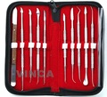 Laboratório Dental cera de Aço Inoxidável kit ferramentas 10 pcs diferente molde de cera Conjunto de ferramentas de escultura dental Instruments