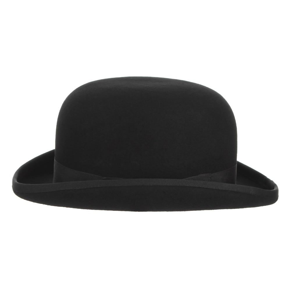 Image 4 - GEMVIE 4 размера 100% Шерсть Войлок черный Дерби котелок шляпа для мужчин женщин атласная Подкладка модные вечерние Формальные Fedora Костюм Шляпа Волшебника-in Мужские фетровых from Аксессуары для одежды on AliExpress - 11.11_Double 11_Singles' Day
