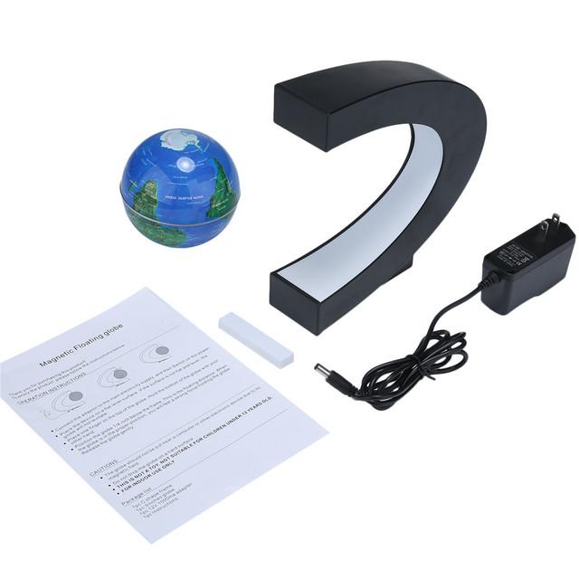 C shape LED World Map – Floating Globe