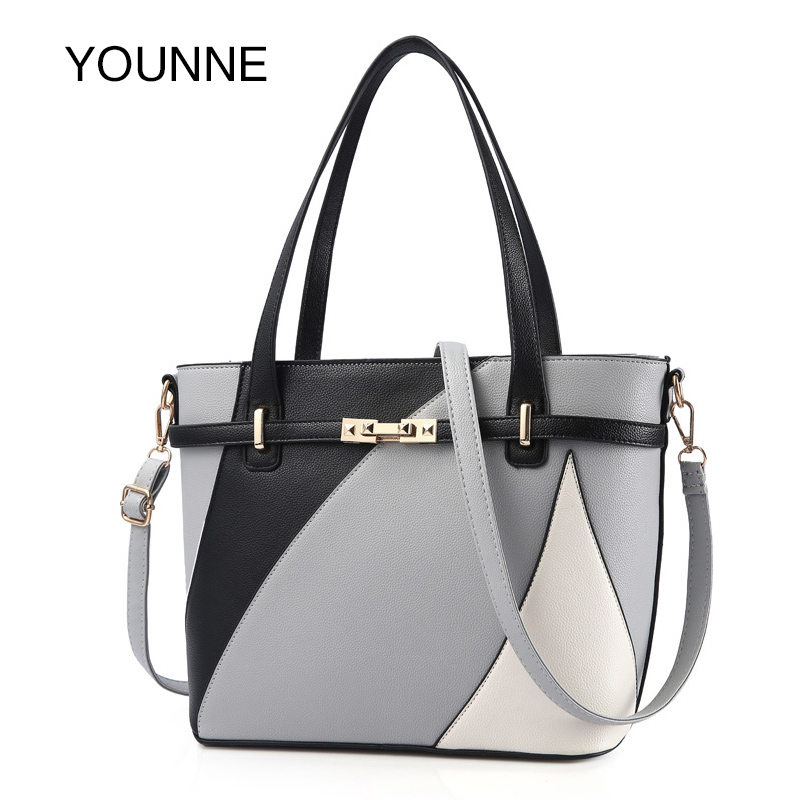 YOUNNE New Design Women Fashion Style Handbag Female Luxury Chains Bags Sequined Zipper Messenger Bag Quality Pu Leather Tote