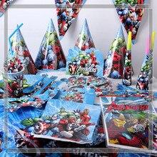 Набор украшений для детской вечеринки в стиле супергероев, Мстителей, на день рождения, вечерние принадлежности, Детские вечерние принадлежности