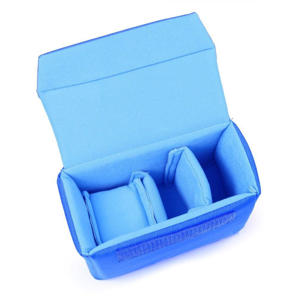 Professional Shockproof DSLR SLR Camera Bag Partition Padded Camera Insert, Make Your Own Camera Bag Blue цена