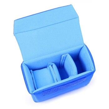 Profesyonel Darbeye Dayanıklı DSLR SLR kamera çantası Bölme Yastıklı Kamera Ekleme, Kendi kamera çantası Mavi