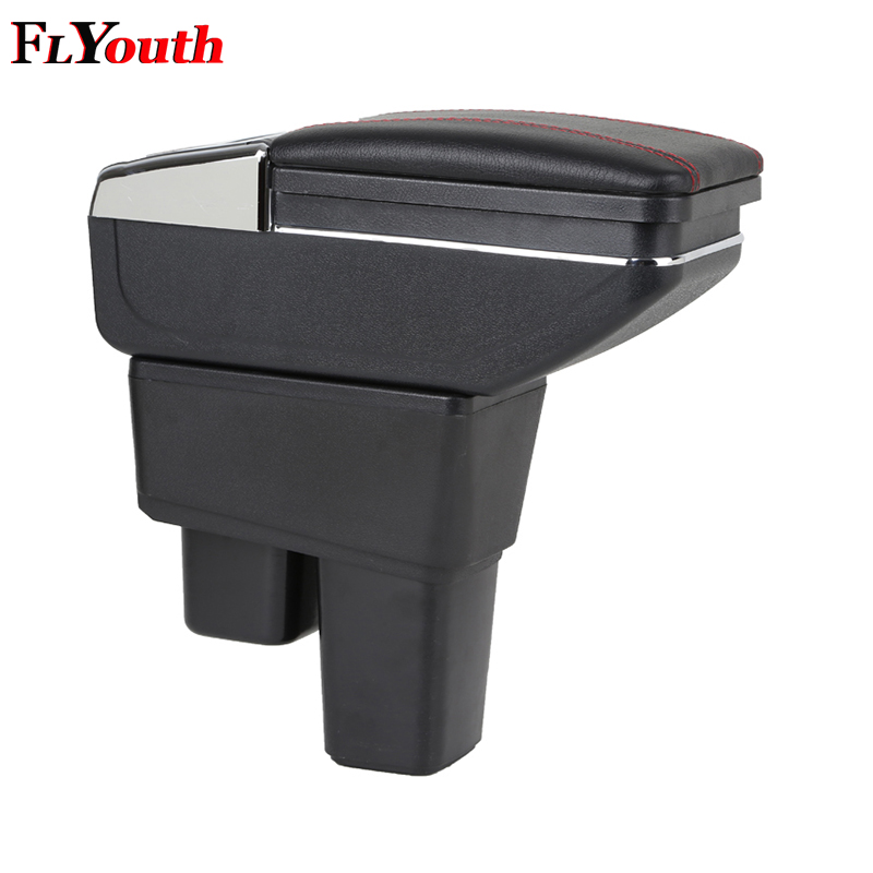 For Honda Fit Jazz 2008 2013 Car Armrest Box Car Styling Central Store Content Box Cup