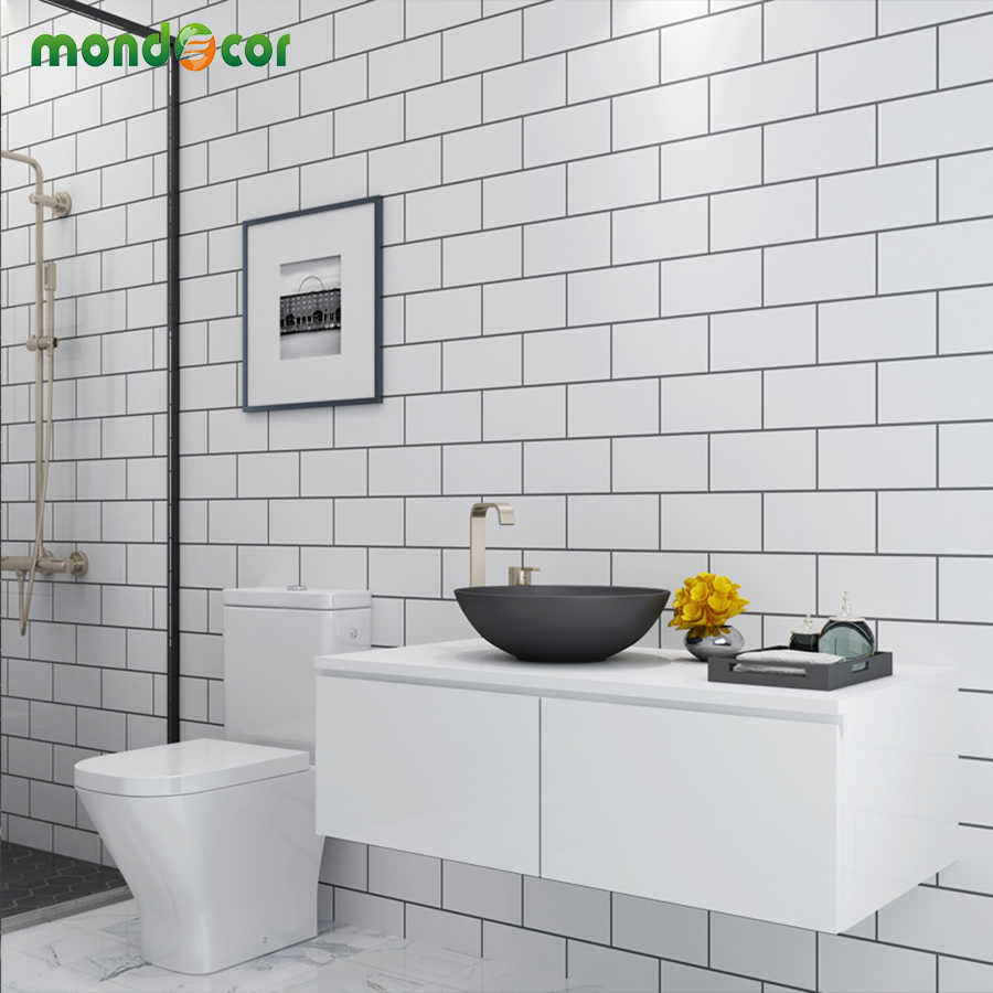 Plastic Vinyl L And Stick Wall Papers Home Decor Bathroom Kitchen Pvc Mosaic Self Adhesive Wallpaper Waterproof Tile Stickers