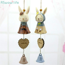 Cartoon Bunny Hanging Wind Chimes Resin Crafts Student Birthday Valentines Day Gifts Festival Party Decorations