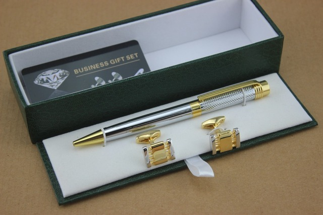 Luxury Mon series Ballpoint Pen Stationery Executive school office supplies writing and Cufflinks Luxury Gift Box