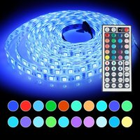 5050 Led Strip Light Lamp 5m RGB Tape Waterproof Ip65 300led with 44key Remote Controller 12V Power Supply Adapter for decor