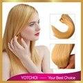 Yotchoi 7A grau cutícula completo cabelo remy virgem 613 # blonde cor 3 pçs/lote extensão do cabelo humano virgem brasileiro não processado