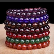 цена на Fashion Boho 8MM23 Glass Imitation Bead Bracelet Charm Women's Bracelet Jewelry Hot Sale