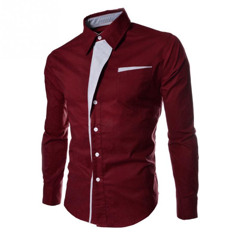 Heißer Männer Mode Streifen Assorted Farben Business Stil Dünnes Hemd Männer's Casual Stil Lange-Sleeve Shirt 5 farben für Wahl