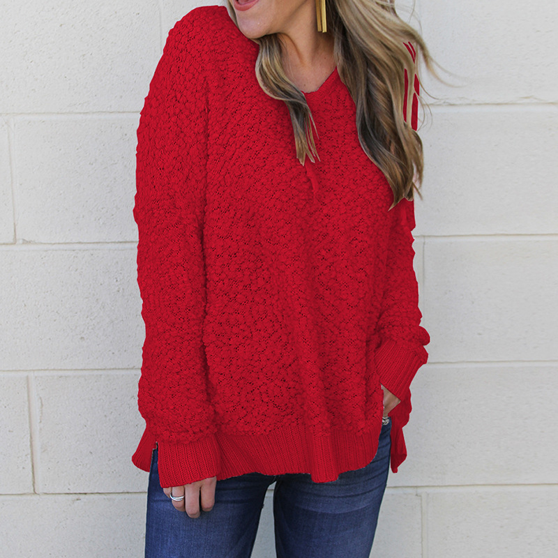 Pull Mode Peluche Manches Longues Femmes