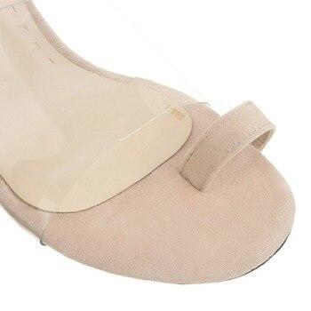 Zapatos Transparentes De Gelatina | Zapatillas De Goma Med Mujer Transparente Slides Tacones Tangas Sliders Cuero Más Tamaño Pvc Goma Señoras Transparente Clip Sandalia Grande