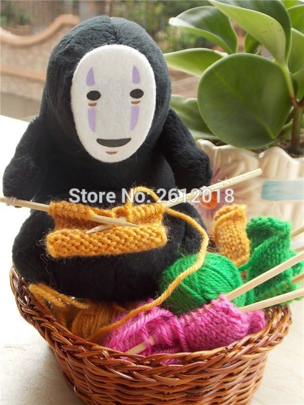 Buy Online Anime Studio Ghibli Spirited Away Kaonashi No Face Faceless Knit Plush Doll 37 Movies Tv Toys Tools 36