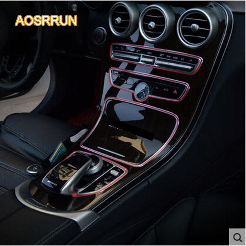 AOSRRUN For Mercedes Benz C-Class W205 C180L C200L C260L C300L instrument panel decoration interior refitting car accessories wiper blades for mercedes benz cls class coupe w219 26
