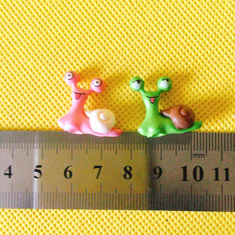 4Pcs/snail/doll house//miniatures/lovely cute/fairy garden gnome/moss terrarium decor/bonsai/figurine/DIY supplies/cake topper