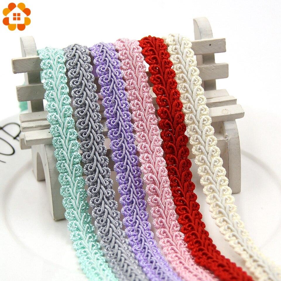 5 м/лот, 12 мм, цветные кружевные ленты для украшения дома, вечерние аксессуары