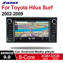 ZaiXi 2din Android 9.0 Octa Core 4GB RAM Car DVD for Toyota Hilux Surf 2002~2009 GPS Radio BT Navi MAP Multimedia player system