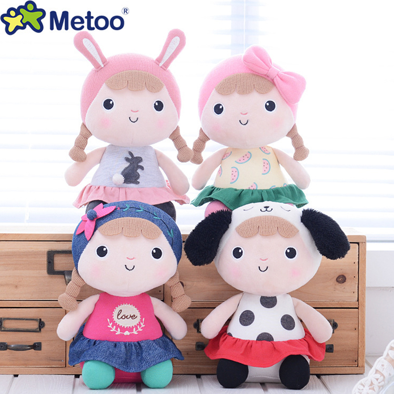 Metoo Doll Cute Cartoon Girls Baby Plush Stuffed Toys Soft Kawaii Sweet Lovely Animals For Kid Children Christmas Birthday Gift wvw cartoon stitch soft stuffed animals toy baby doll toys for girls children birthday gift mini stuffed animals cute plush toy page 1