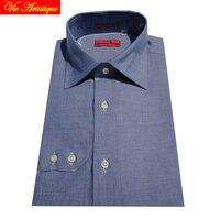 Male Long Sleeve Casual Dress Cotton Jeans Blue Shirts Men S Big Plus Size Shirt Custom
