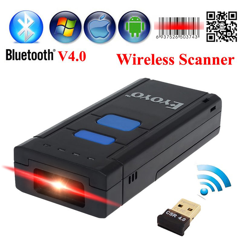 Free Shipping!MJ-2877 Pocket Portable Wireless 2D Barcode Scanner USB Bluetooth V4.0 QR Bar code Reader For Android IOS Windows