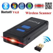 El Envío Gratuito! MJ-2877 Portátil de Bolsillo Inalámbrico 2D Escáner de código de Barras QR código de Barras Lector USB V4.0 Bluetooth Para Android IOS ventanas