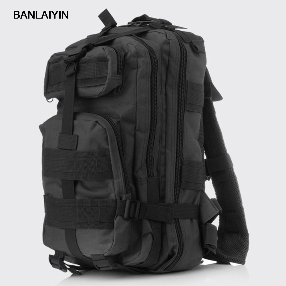 Mens Waterproof Nylon High Capacity Military Attack Travel Riding Back Pack Rucksack Backpack Camo Bag