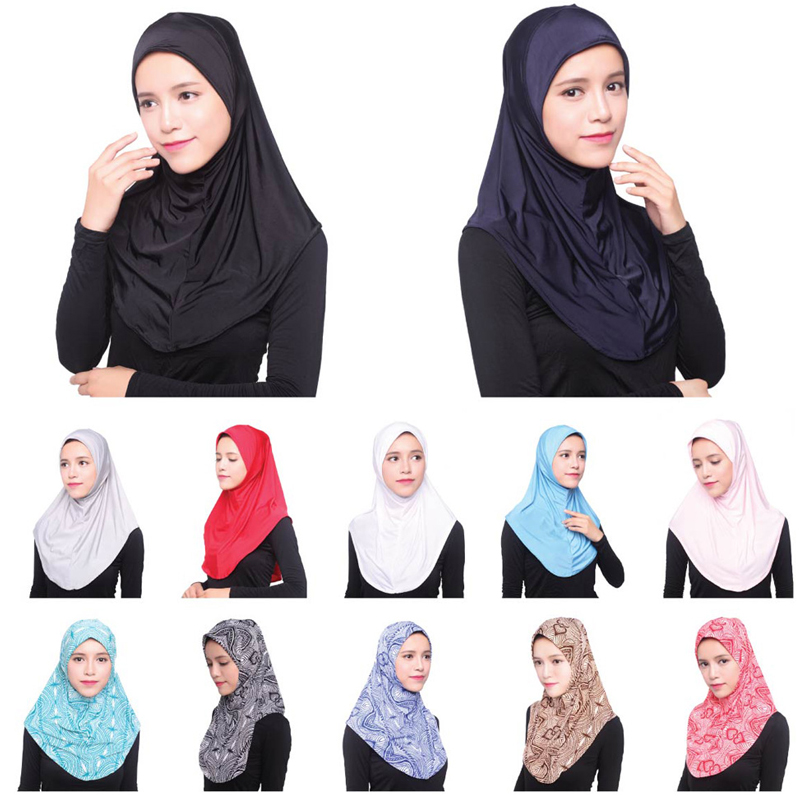 2019 UAE Abaya Dubai Islam Saudi Arabia Hijab Caps Women Muslim Turban Hijabs Shawl Turbante Mujer Bonnet Headscarf Underscarf
