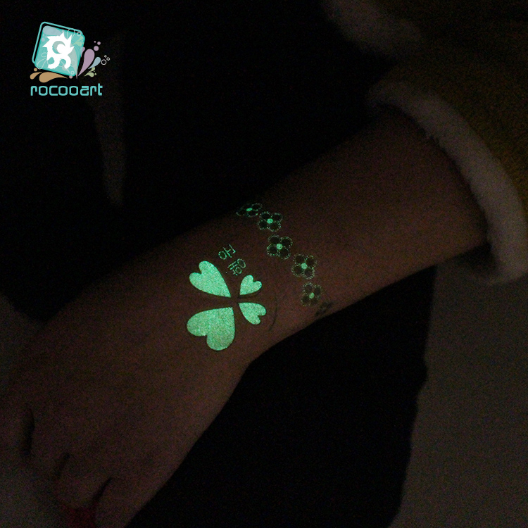 Butterfly Luminous Fake Tattoo Glowing in Dark 1