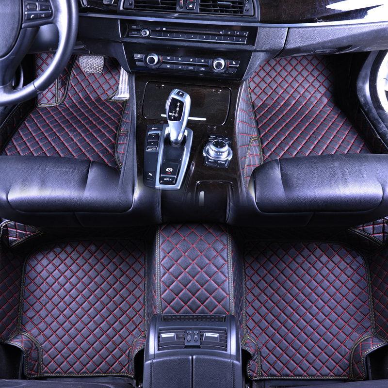 floor mats Custom car floor mats for Buick KIA Honda All Models Odyssey Accord auto foot mats ACCESSORIES car carpets PU Leather full surrounded right steering rhd waterproof carpets durable special car floor mats for skoda octovia yeti superb most models