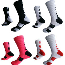 High quality professional basketball socks male sports protection warm elite matching