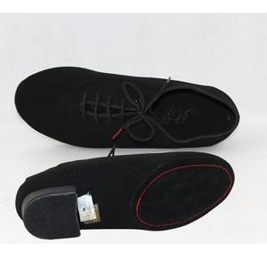 Image 4 - スニーカーbdダンスシューズ男性靴スクエアダンス社会社交ラテンシューズ309黒317現代の靴ホットオックスフォード布ヒール25ミリメートル