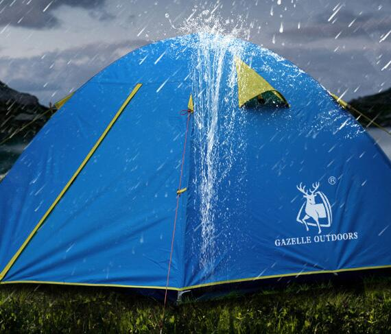 Gazelle Ultralight Outdoor Camping Tent 2 3 Persons Rainproof Beach Tent high quality outdoor 2 person camping tent double layer aluminum rod ultralight tent with snow skirt oneroad windsnow 2 plus