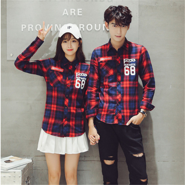 Casual Korean Mens Fashion Flannel Shirt Special Design 2018 Plus