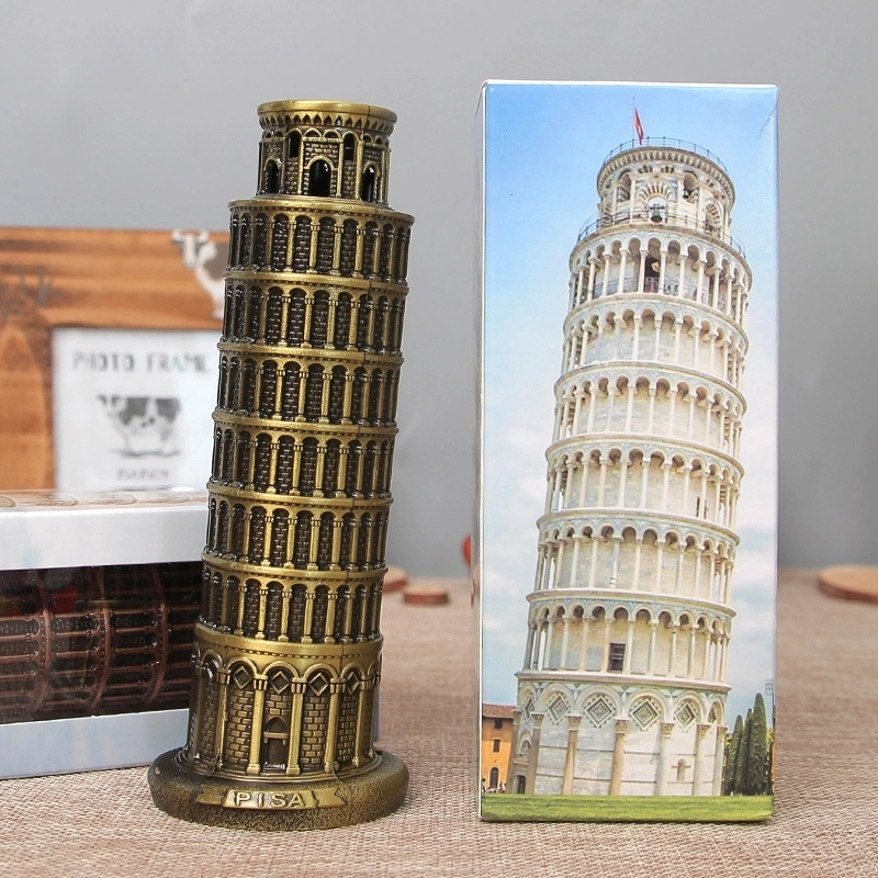 Retro Metal Leaning Home Decoration Tower Pisa Home Office Desktop Crafts Bronze Decor Showcase Decorative Souvenir Gift in Figurines Miniatures from Home Garden