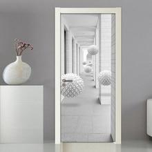 Creative 3D Stereoscopic Space Modern Door Decoration Sticker Bedroom Living Room Renovation DIY Self-adhesive Mural