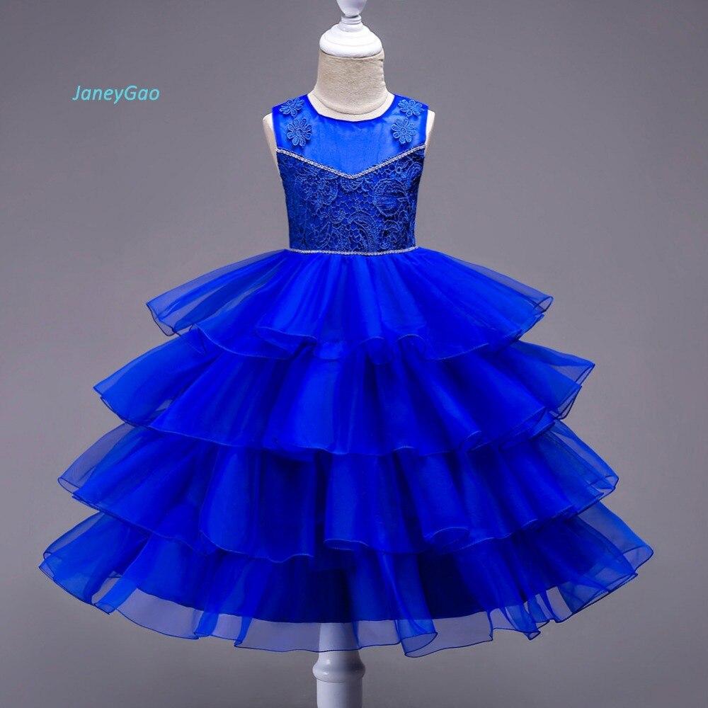 JaneyGao   Flower     Girl     Dress   For Wedding Party Elegant Ruffles Little   Girl   Formal Gown First Communion   Dress   vestido comunion