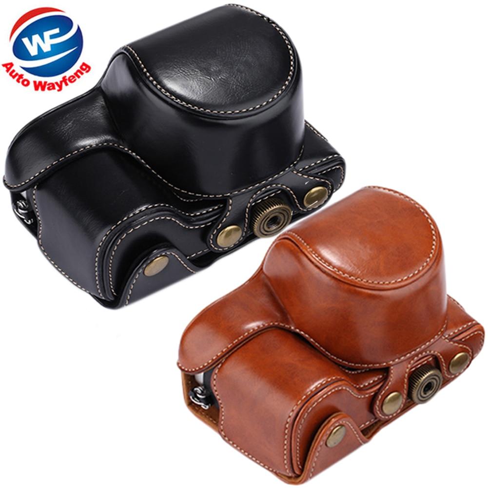 Высокое качество, поступления 2016 г. из искусственной кожи Камера сумка-чехол сумка с плечевым ремнем для Sony A5000 A5100 NEX 3N Камера s b