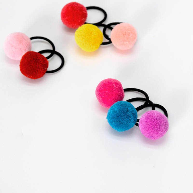 素敵な 8 色キッズガールベビー毛玉ヘッドバンドドット帽子弾性ヘアバンドヘアロープよくファッション毛玉